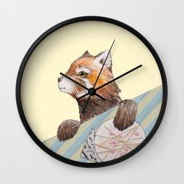Panda's Lunch Wall Clock