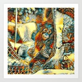 AnimalArt_OrangUtan_20170605_by_JAMColorsSpecial Art Print