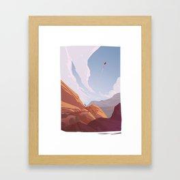 Red Rocks - The Travellers Framed Art Print