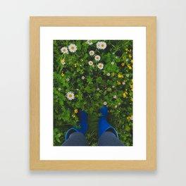 Summer Kicks Framed Art Print