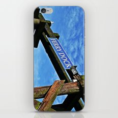 ferry dock iPhone & iPod Skin