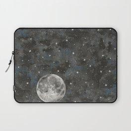 Watercolor Space Moon Robayre Laptop Sleeve