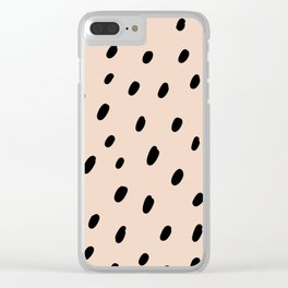 Peach spots and dots Clear iPhone Case