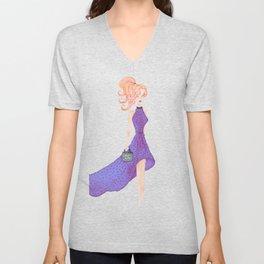 Fashion DIVA - watercolor Unisex V-Neck