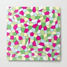 Pastel Mosaic Metal Print