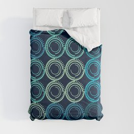 Blue Circles Abstract Pattern Comforters