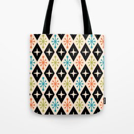 Mid Century Modern Atomic Triangle Pattern 922 Tote Bag