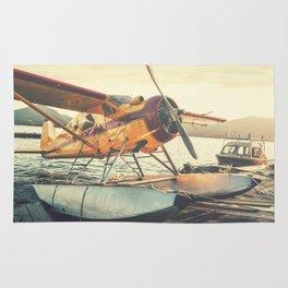 Floatplane in Sunset Rug