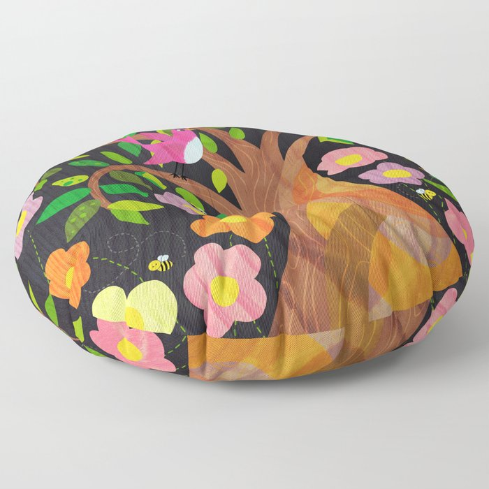 The Birds And The Bees And The Flowers And The Trees Floor Pillow