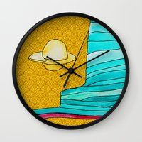 utah Wall Clocks featuring utah by worricow
