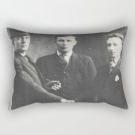1898 Three Men and a Handshake Rectangular Pillow