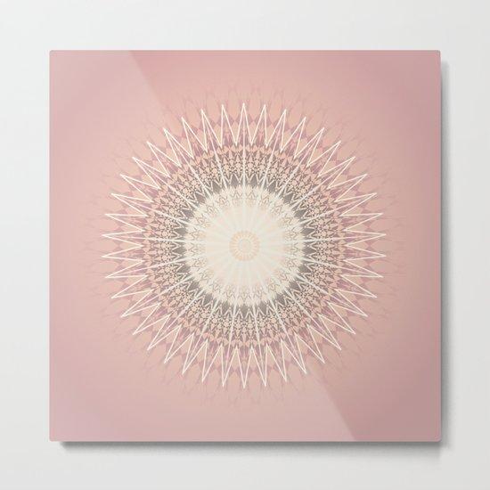 Rose Mandala Metal Print