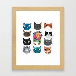 Cats, cats, cats! Framed Art Print