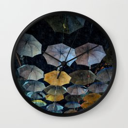 Umbrella night Wall Clock