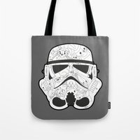 stormtrooper Tote Bags featuring Stormtrooper by Santos