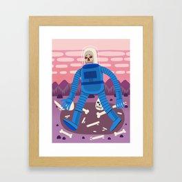 Sad Spaceman Framed Art Print