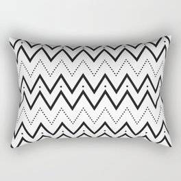 Black lines and dots pattern Rectangular Pillow