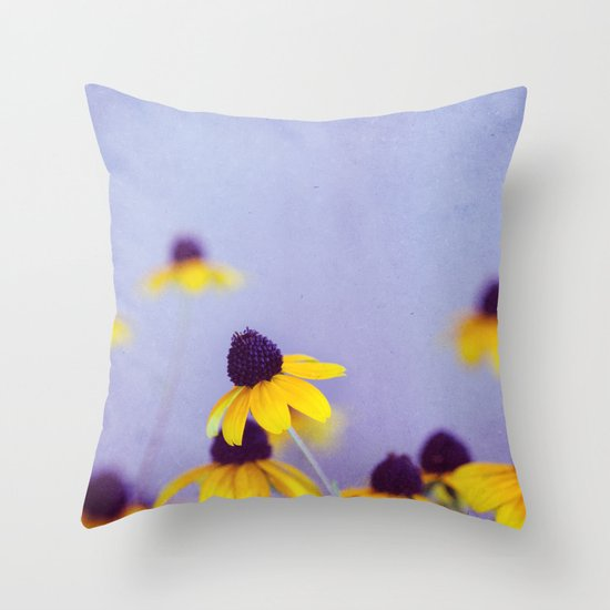 Lilac and Yellow Throw Pillow