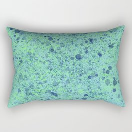 Turquoise Splatter Paint Design Rectangular Pillow