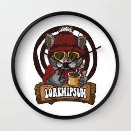 loremipsum Cat Wall Clock