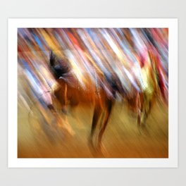 Abstract Rodeo Art Print