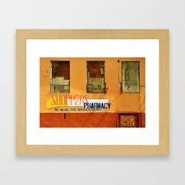 Shoppers Pharmacy - We Mend the Broken Heart Framed Art Print
