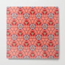 African Masai Inspired Pattern Metal Print