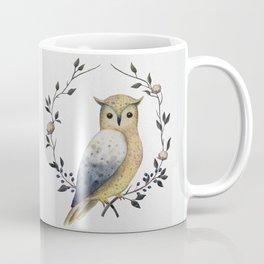 A Long Eared Owl On A Laurel Coffee Mug