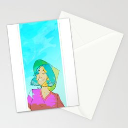 Asian girl laughing Stationery Cards