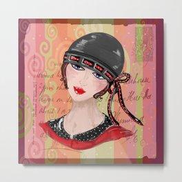 Flapper Girl Metal Print