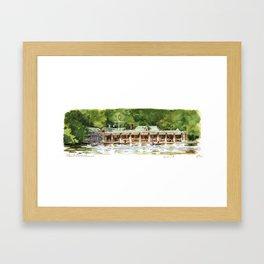 Loeb Boathouse Framed Art Print
