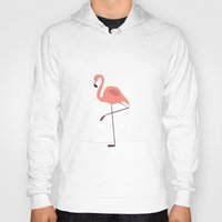 flamingo Hoodies featuring Flamingo by Pati Designs