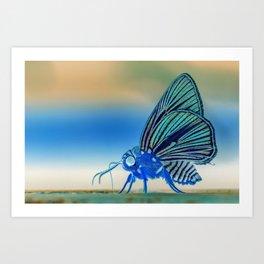 Azul Mothra Art Print