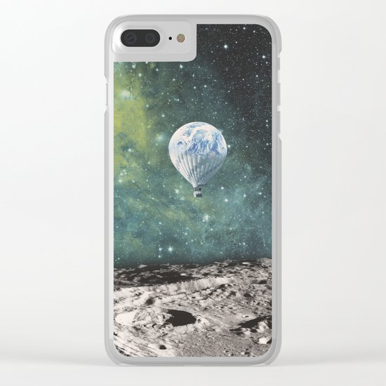 FLOATING THROUGH SPACE Clear iPhone Case