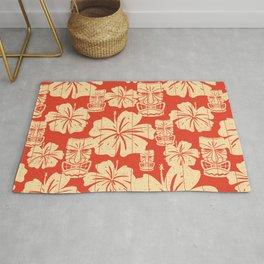 Tiki Pattern in Red Rug