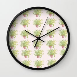 House Plant Pattern Wall Clock