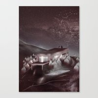 kpop Canvas Prints featuring Night Sky Stories by Martynas Pavilonis