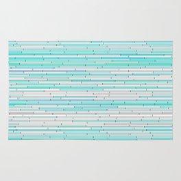 Sky Blue Random Line Sections Rug