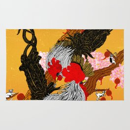 Year of the Fire Rooster Rug