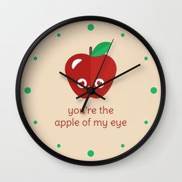 You're the Apple of My Eye Wall Clock