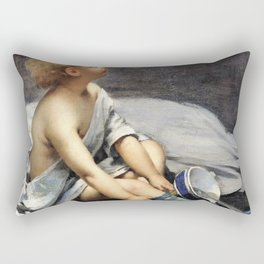 Fernand Pelez - A child in the attic - Digital Remastered Edition Rectangular Pillow