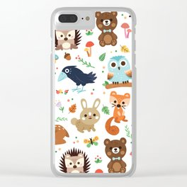 Woodland Animal Clear iPhone Case