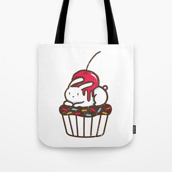 Chubby Bunny on a cupcake Tote Bag