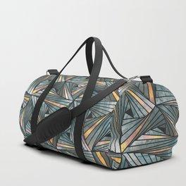 Mesh (Grey and Copper) Duffle Bag