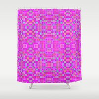 candy Shower Curtains featuring Candy Colored Pixels by 2sweet4words Designs