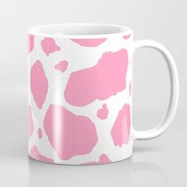 pink and white animal print cow spots Coffee Mug
