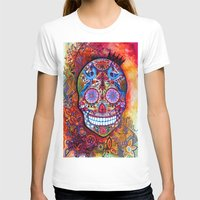 sugar skull T-shirts featuring Sugar Skull by oxana zaika