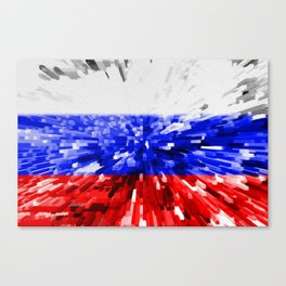 Extruded Flag of Russia Canvas Print
