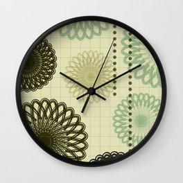 Doily Maths Wall Clock