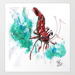 Shrimp Friend Art Print